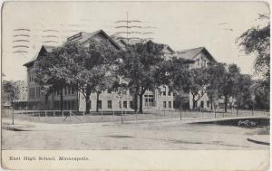 Minnesota Mn Postcard c1910 MINNEAPOLIS East High School Building