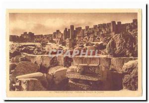Syria Baalbek CARTE Postal Debris Old Temple of Jupiter