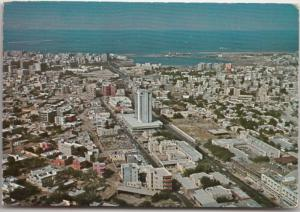 Saudi Arabia, Jeddah, aerial view, 1978 used Postcard