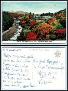 JAPAN Postcard - Nikko Kanaya Hotel & Sacred Bridge AF