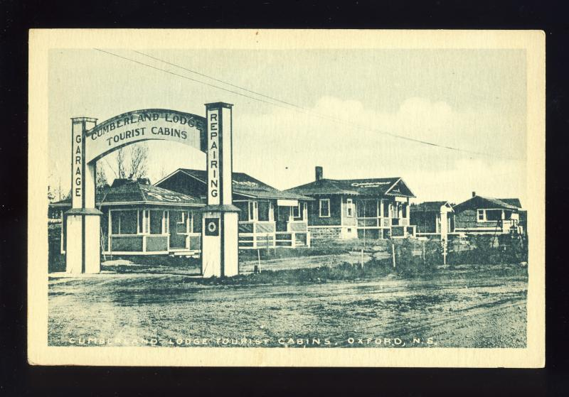 Oxford, Nova Scotia/NS, Canada Postcard, Cumberland Lodge Tourist Cabins