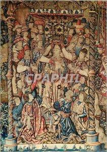 Modern Postcard Reims Palais du Tau coronation of King Clovis Tournai Tapestr...
