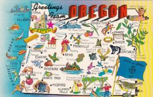 Greetings From Oregon With Map