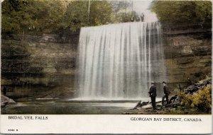 Bridal Veil Falls Georgian Bay District Ontario ON c1908 Postcard F13