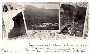 New Hampshire  White Mountains , Multi-view ,Old man of Mtn. Flume