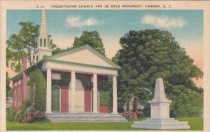 South Carolina Camden Presbyterian Church And De Kalb Monument