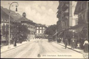 switzerland, INTERLAKEN, Bahnhofstrasse (1910s)