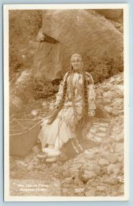 Postcard AK Skagway Harriet Pullen In Native Eskimo Dress RPPC Real Photo Q12
