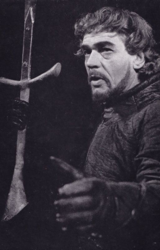 Paul Scofield as Macbeth Aldwych Play Shakespeare Theatre Postcard