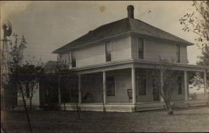 Fredericktown OH Home c1910 Real Photo Postcard