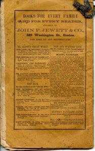 The Old Farmers' Almanac (Robert B Thomas)-1858 (8.25 X 5.25)48pp, stringbound