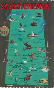 Map , Saskatchewan , Canada , 40-60s
