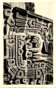 Mexico Xochicalco Relief Wall From The Temple