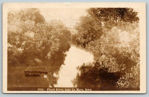 Le Mars IA~Floyd River~MK: Say it's Beautiful Here~Never Chicago Again~1910 RPPC