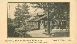 Kisnop Lodge roadside North Woodstock New Hampshire 1920s Postcard 12175