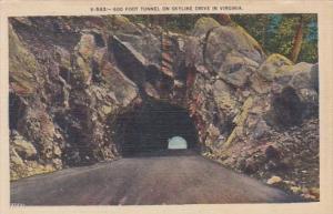 Virginia 600 Foot Tunnel On Skyline Drive