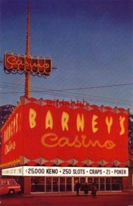 BARNEY'S CASINO SOUTH SHORE, LAKE TAHOE, NV home of O' Houlihan's Hideout
