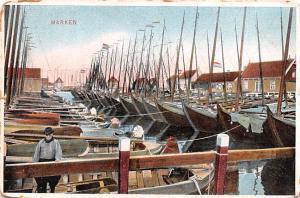 Norway Old Vintage Antique Post Card Marken Unused