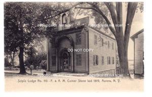 Scipio Lodge, F.& A.M. Corner Store, Aurora NY