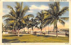 Avenida del Puerto Habana Cuba, Republica de Cuba 1950