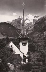 Switzerland Kandersteg Dorfkirche mit Bluemlisalp Photo