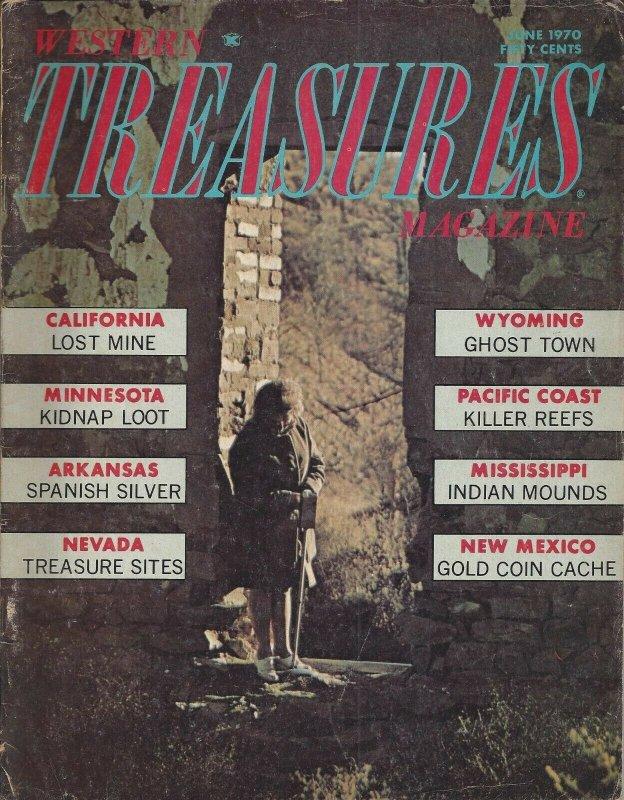 Western Treasures Vintage June 1970 Magazine