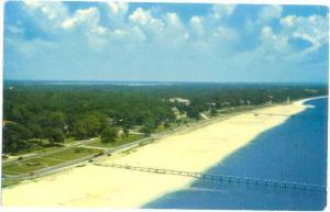 Highway & Beach Mississippi Gulf Coast near Biloxi MS