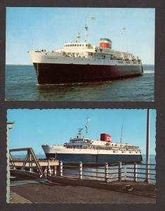 ME Lot 2 Bluenose Ferry Boat Ship Bar Harbor Maine Yarmouth Nova Scotia Postcard