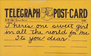 Telegraph Postcard 1912