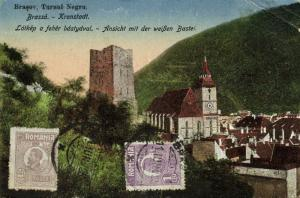 romania, BRASSO BRASOV KRONSTADT, Panorama with White Bastion (1925) Stamps