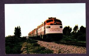 FL Union Pacific Railraod Train Hollywood Florida Postcard Preamble Express RR
