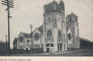 SPOKANE, Washington, PU-1909; First M.E. Church