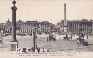 France Paris Place de la Concorde Les Fontaines et l'Obelisque