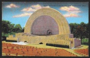 Music Pavilion Grandview Park Sioux City Iowa Unused c1930s