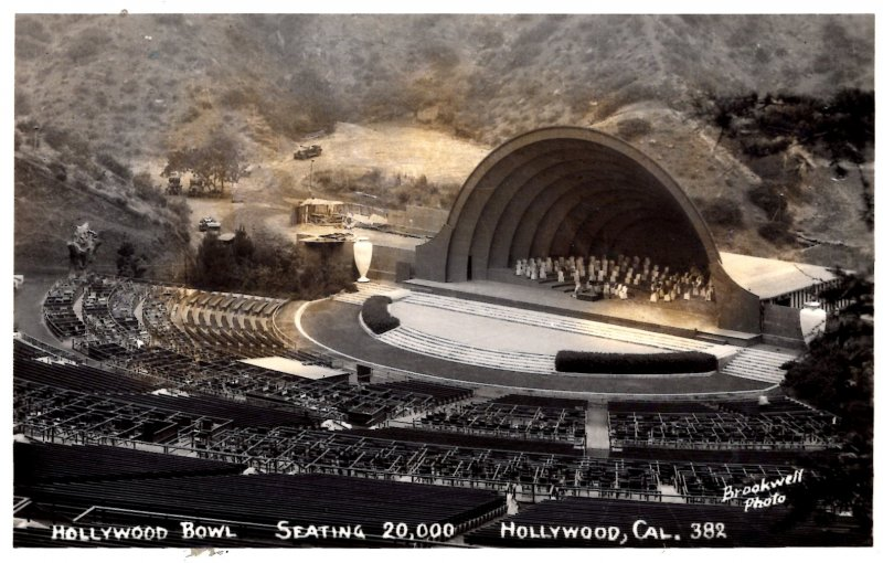 Hollywood, California - RPPC - The Hollywood Bowl - Seating 20,000 - 1940s