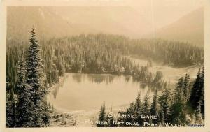 1930s Rainier National Park Washington Sunrise Lake RPPC Real photo 2185