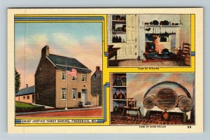 Frederick MD-Maryland, Chief Justice Taney Shrine, Linen Postcard