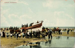 Lifeboat Hunstanton Norfolk England People Boat May Bone Postcard G81