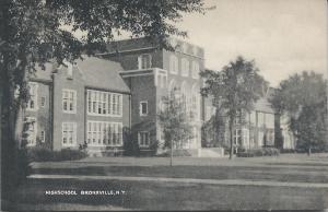 High School, Bronxville, New York, Early Postcard, unused