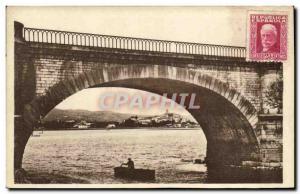 Old Postcard Irun Puente internacional de Ferrocarril
