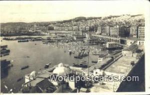 Alger Algeria, Africa, Vue Generale sur le Port  Real Photo Vue Generale sur ...
