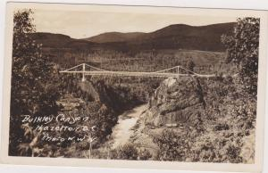 RP; Aerial view of Bulkley Canyon and bridge, Hazelton, British Columbia, 30-40s