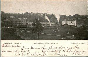 Vtg Tarjeta Postal 1906 Pennsylvania Goma Co. Jeannette Pa Undiv Dougherty's