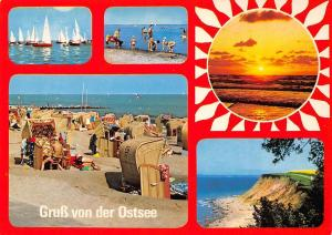 Gruss von der Ostsee multiviews Boats Beach Sunset Cliff Landscape