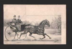 078738 Fast Running HORSE w/ Carriage by DIENS vintage PC