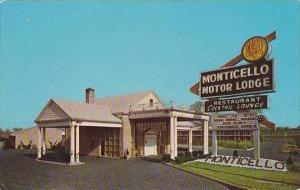 New Jersey Bellmawr Monticello Motor Lodge Curteich