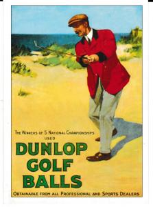 Golf Series (A) Advertising Dunlop Golf Balls ROGS 5 unposted