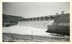 Washington~Grand Coulee Dam~Length of Spillway~1940s Sawyers Real Photo~RPPC