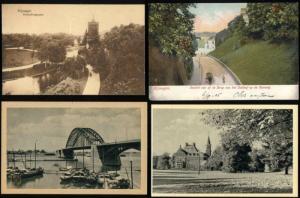 netherlands, NIJMEGEN, 4 postcards Waal Bridge, Park