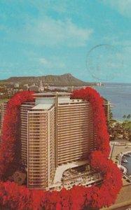 HONOLULU, Hawaii, 1968; Ilikai, overlooking Waikiki and the Yacht Harbor